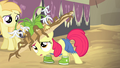 Apple Bloom in muddy hat and galoshes S4E13.png