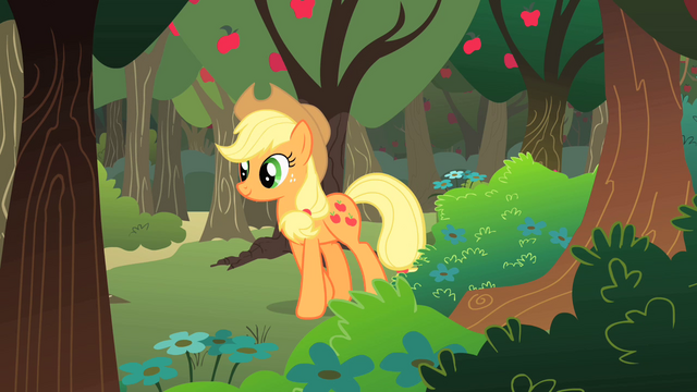 File:Applejack walking past apple orchard S01E18.png