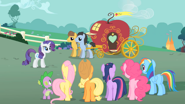 File:Caramel and Lucky Clover pull carriage S01E26.png