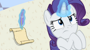 Rarity writing letter 'Because poor Opal is quite ill' S2E9.png