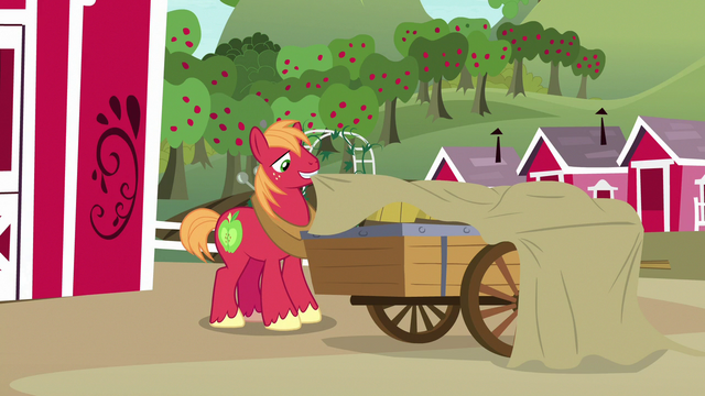 File:Big McIntosh covering his cart with a tarp S7E8.png
