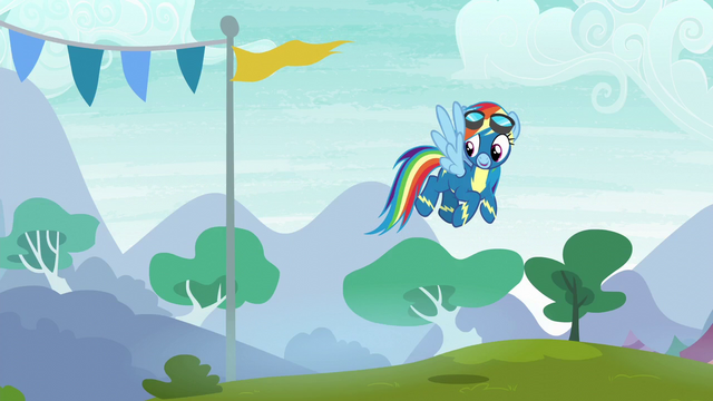 File:Rainbow sees her friends in the crowd S6E7.png