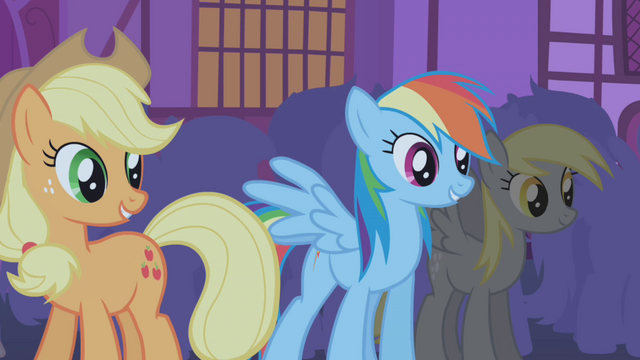 "File:Applejack and Rainbow ""hate you?"" S1E06.png"