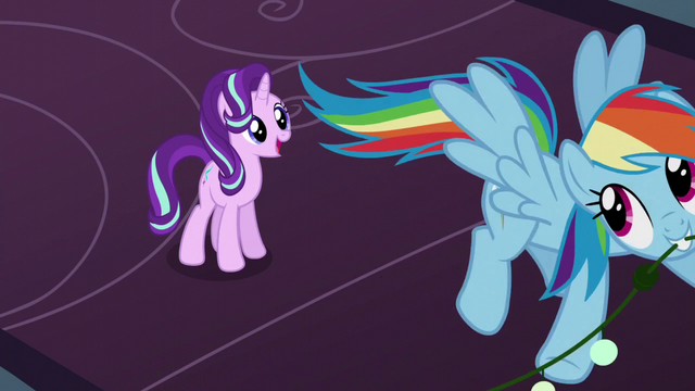 File:Rainbow flying up with the last decorations S6E8.png