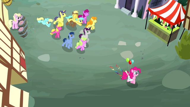File:Crowd of ponies following Pinkie Pie S4E12.png
