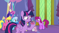 Discord appears in Twilight's punch cup S7E1.png