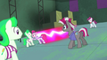 Pinkie Pie playing tag with henchponies S4E06.png