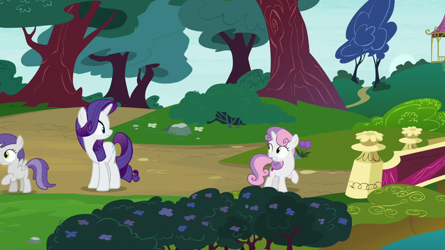 File:Sweetie Belle looking back at Rarity S7E6.png