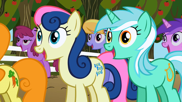 File:Sweetie Drops and Lyra Heartstrings excited S2E15.png