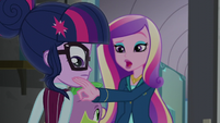 Dean Cadance picks a dog hair from Twilight's shirt EG3