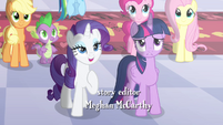 "Rarity and Twilight ""captured your regality"" S4E01"