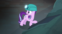 Starlight Glimmer discovers a hollow wall S7E4