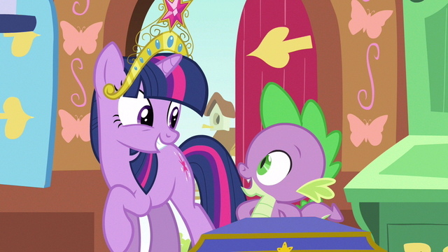 File:Twilight & Spike sharing smiles S3E13.png