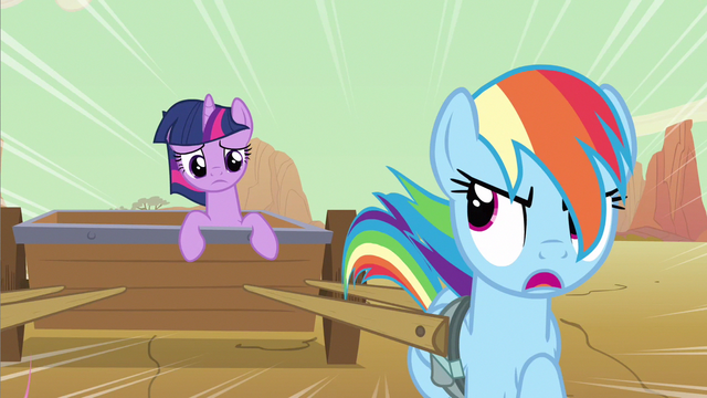 File:Rainbow Dash and Twilight Sparkle ditching Pinkie and Rarity S2E14.png