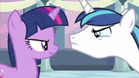 Twilight & Shining Armor stare off S2E25