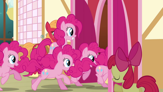 File:Pinkie Pie clones entering the town hall S3E03.png