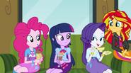 Rarity asks about Equestrian gossip EG2