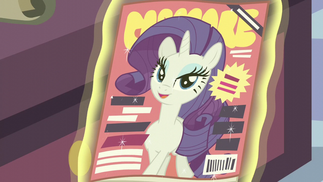 File:Rarity on the front cover of Cosmare S5E14.png