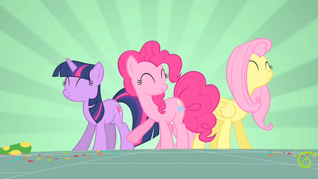 File:Twilight, Pinkie and Fluttershy dancing S1E25.png