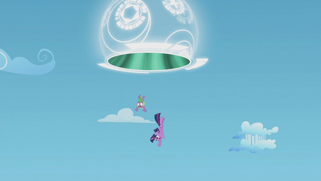 File:Twilight and Spike fall through the portal S5E25.png