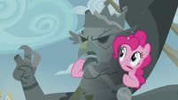 Pinkie being a ventriloquist S5E8