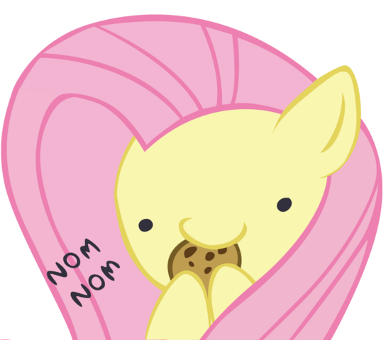 File:FANMADE Fluttershy nom nom by Ocarina0fTimelord.png