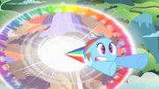 Filly Rainbow Dash sonic rainboom S1E23.png