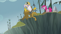 Gilda rappelling down the Abyss wall S5E8.png