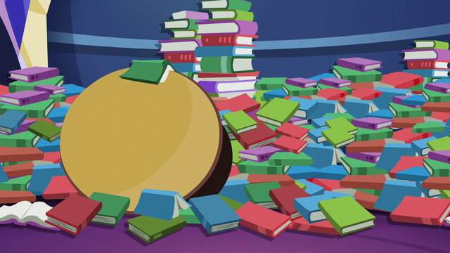 File:Mess of library books and table S6E21.png