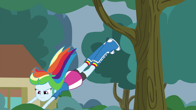 File:Rainbow Dash leaping into a bush EG3.png