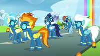 "Spitfire ""which pony broke protocol"" S7E7"
