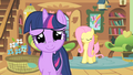 Twilight smiles nervously at royal guards S01E22.png