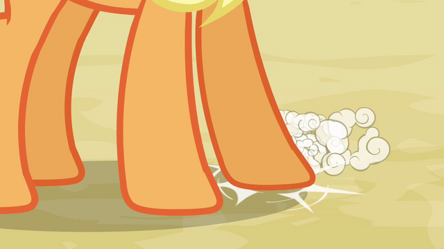 File:Applejack tapping her hoof S3E8.png