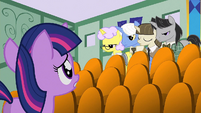 Filly Twilight looking at the examiners S1E23