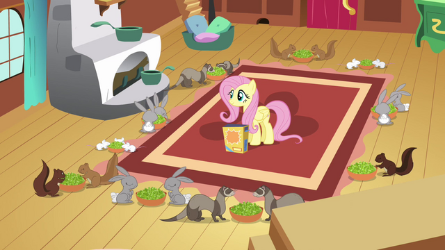 File:Fluttershy watching animals eat S2E19.png