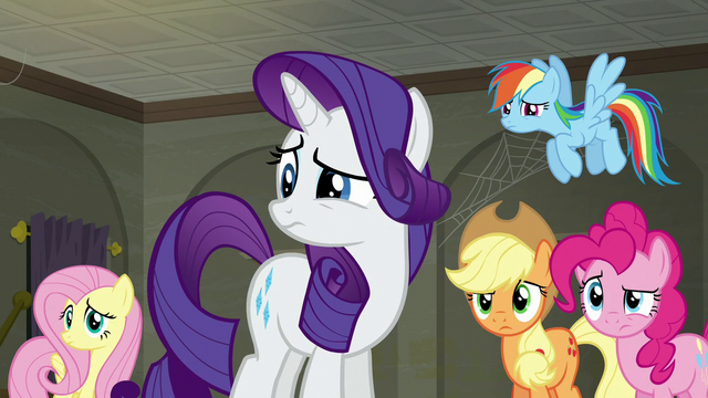 File:Main five still staring at Twilight S6E9.png