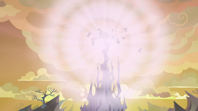 File:Top spire of the changeling hive explodes S6E26.png