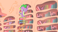Spike angry that Owlowiscious got the book before him S1E24