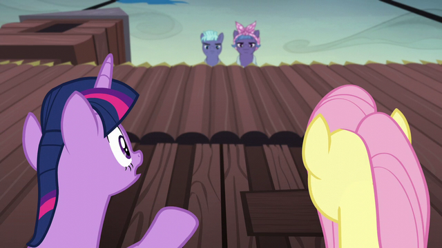 "File:Twilight Sparkle ""we are not spies!"" S5E23.png"