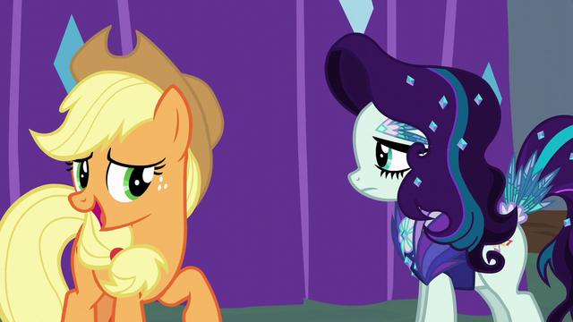 "File:Applejack ""Svengallop turned you into"" S5E24.png"