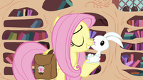 Fluttershy rubs noses with Angel S03E11