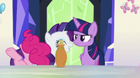 Pinkie Pie falls over laughing S5E22