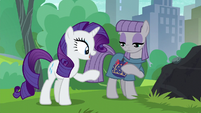 "Rarity ""relieved to see that you like the pouch"" S6E3"