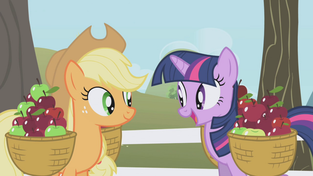 File:Twilight about to offer AJ the ticket S1E03.png