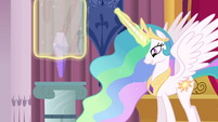 Celestia putting the crystal back into its place S3E01