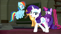 "Rarity ""we'll be ready for the grand opening tonight"" S6E9"