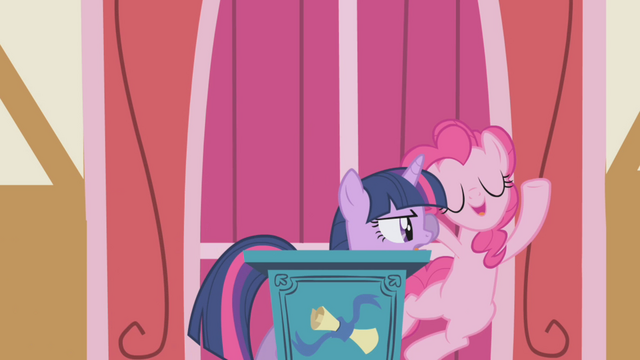 File:Twilight pushes Pinkie off the podium S1E04.png