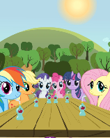 File:Discover the Difference - Mane Six at Sweet Apple Acres.png