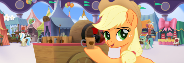 File:MLP The Movie Hasbro website - Applejack selling cider.png