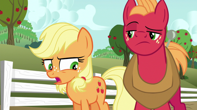 "File:Young Applejack ""that's usually the case"" S6E23.png"
